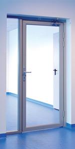 Двери из алюминиевого профиля - одинарный витраж