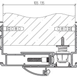 Толщина стен проема 105-135 мм