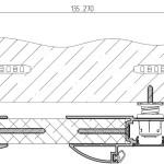 Толщина стен проема  135-270  мм