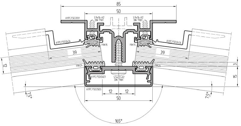 внутрий угол до 7,5° Рисунок 3. Основные варианты сопряжения в холодной зоне